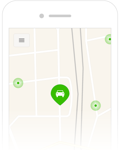Get information on nearby parking spaces from other users